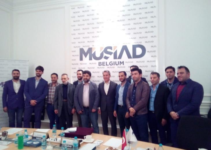 Emir Kır (Mayor of Saint-Josse) welcomed in MUSIAD Belgium
