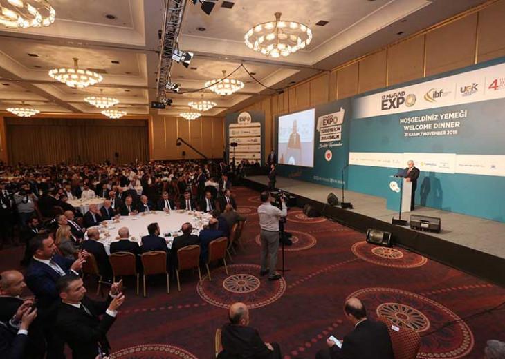 17.MÜSİAD EXPO Hoşgeldiniz Yemeği Programı Meclis Başkanı Binali Yıldırım'ın Katılımlarıyla Düzenlendi